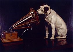Barraud's re-painted original: His Master's Voice