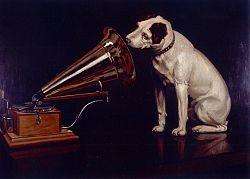 Barraud's re-painted original: His Master's Voice
