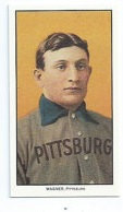 Famous 1910 Honus Wagner card; uniform without the H