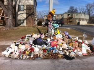 Michael BrownMemorial, Canfield Dr, Ferguson, MO