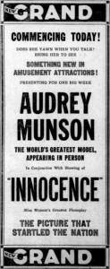 "Audrey Munson in ""Innocence"""