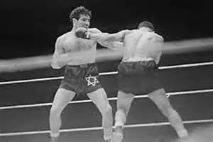 Max Baer, Sr, in his Star of David embroidered boxing trunks. I think this is the fight with Max Schmeling