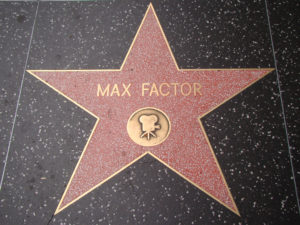 Max Factor's star, on Hollywood Blvd